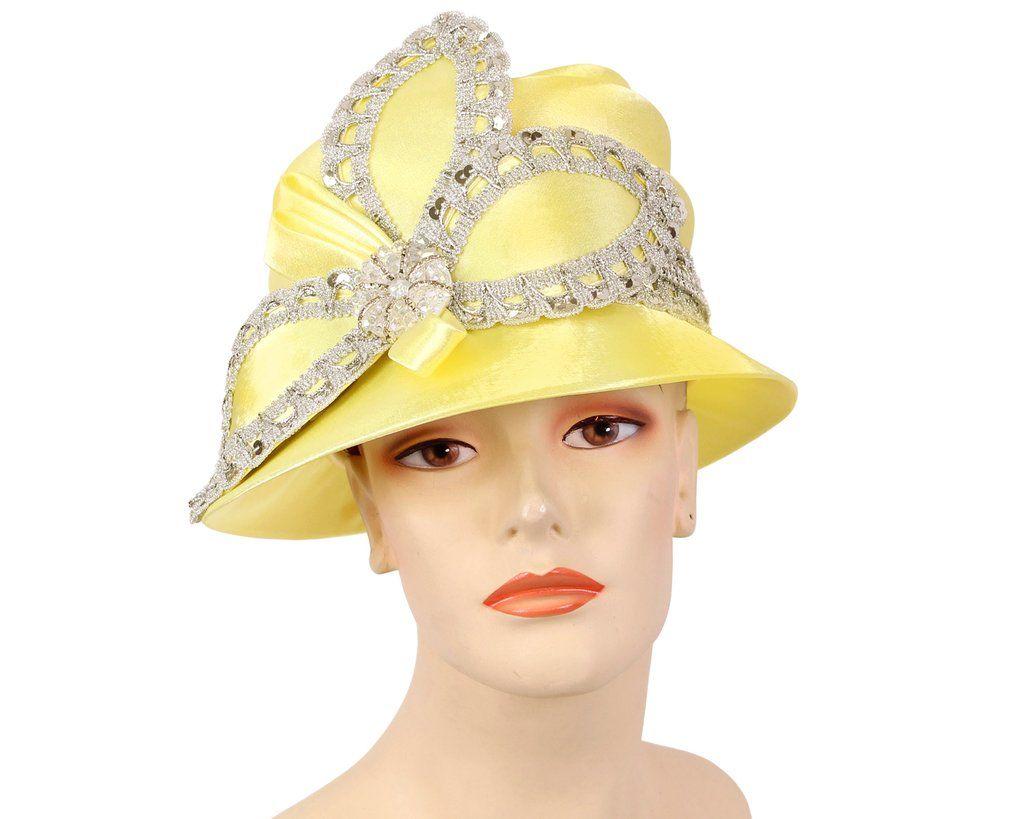 Women's Satin Church Derby Hats H910 in 2020 Derby