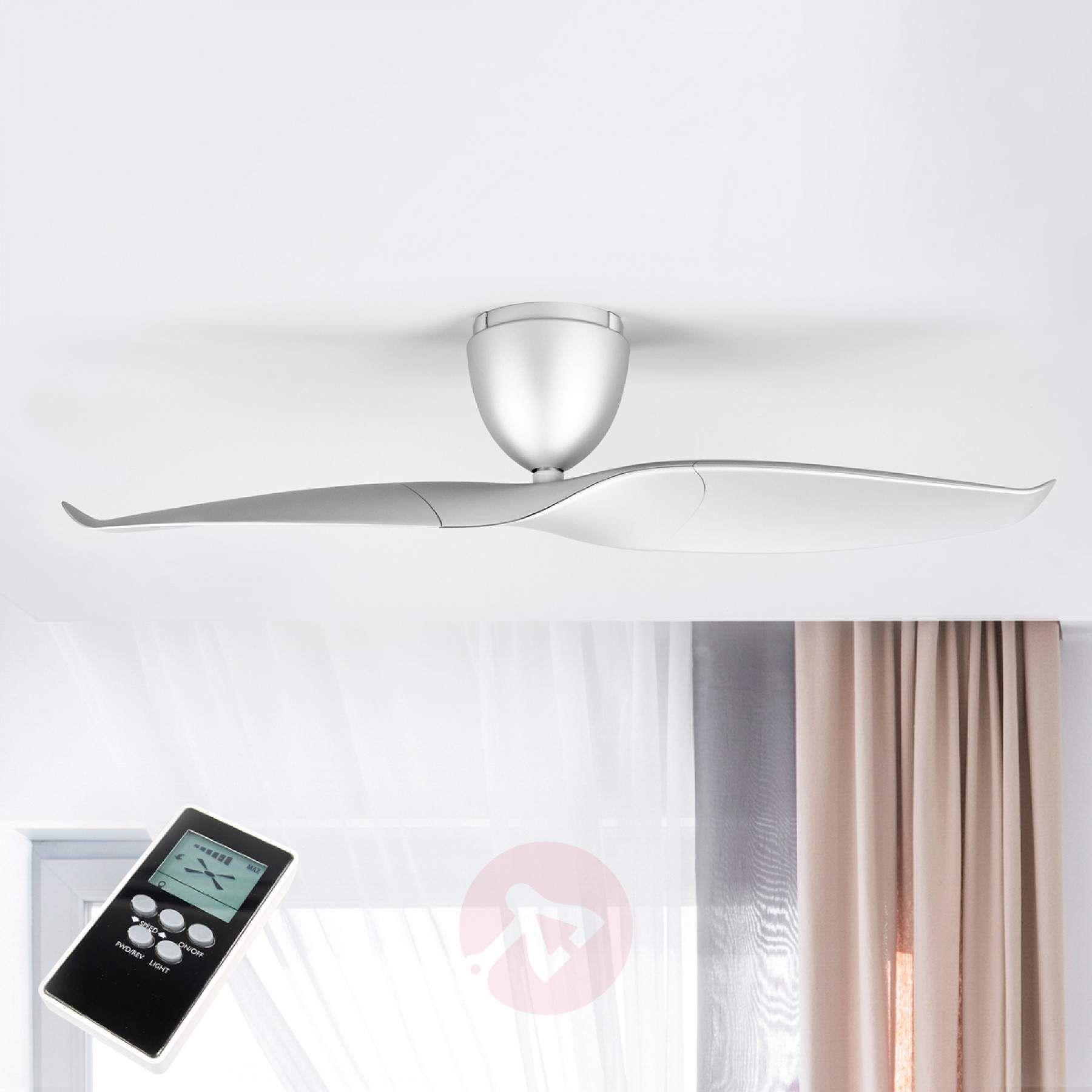 Ventilateur De Plafond Wave A 2 Pales Argent 126 Ventilateur Plafond Plafond Et Ventilateur