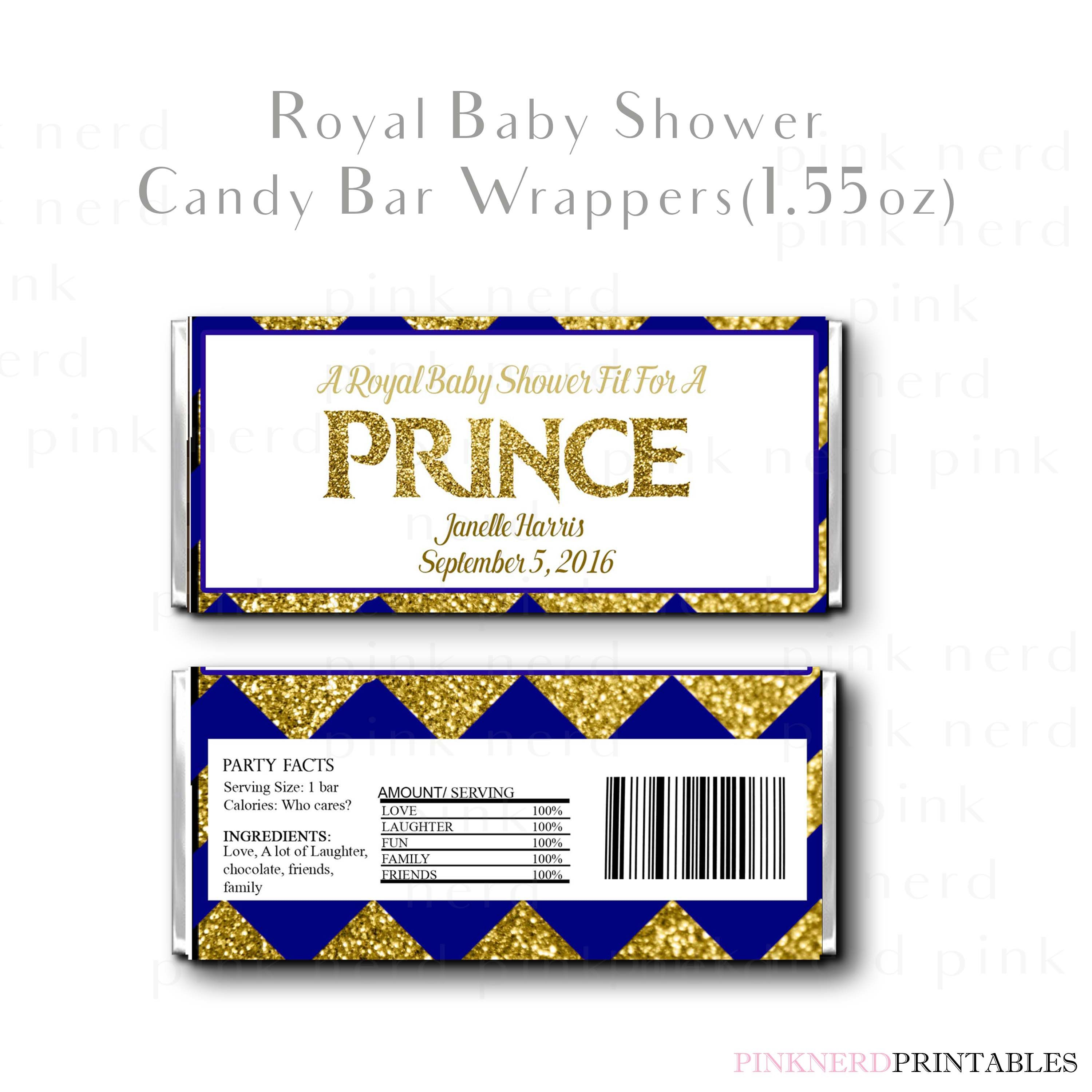 Royal Prince Baby Shower Printable Candy Wrapper