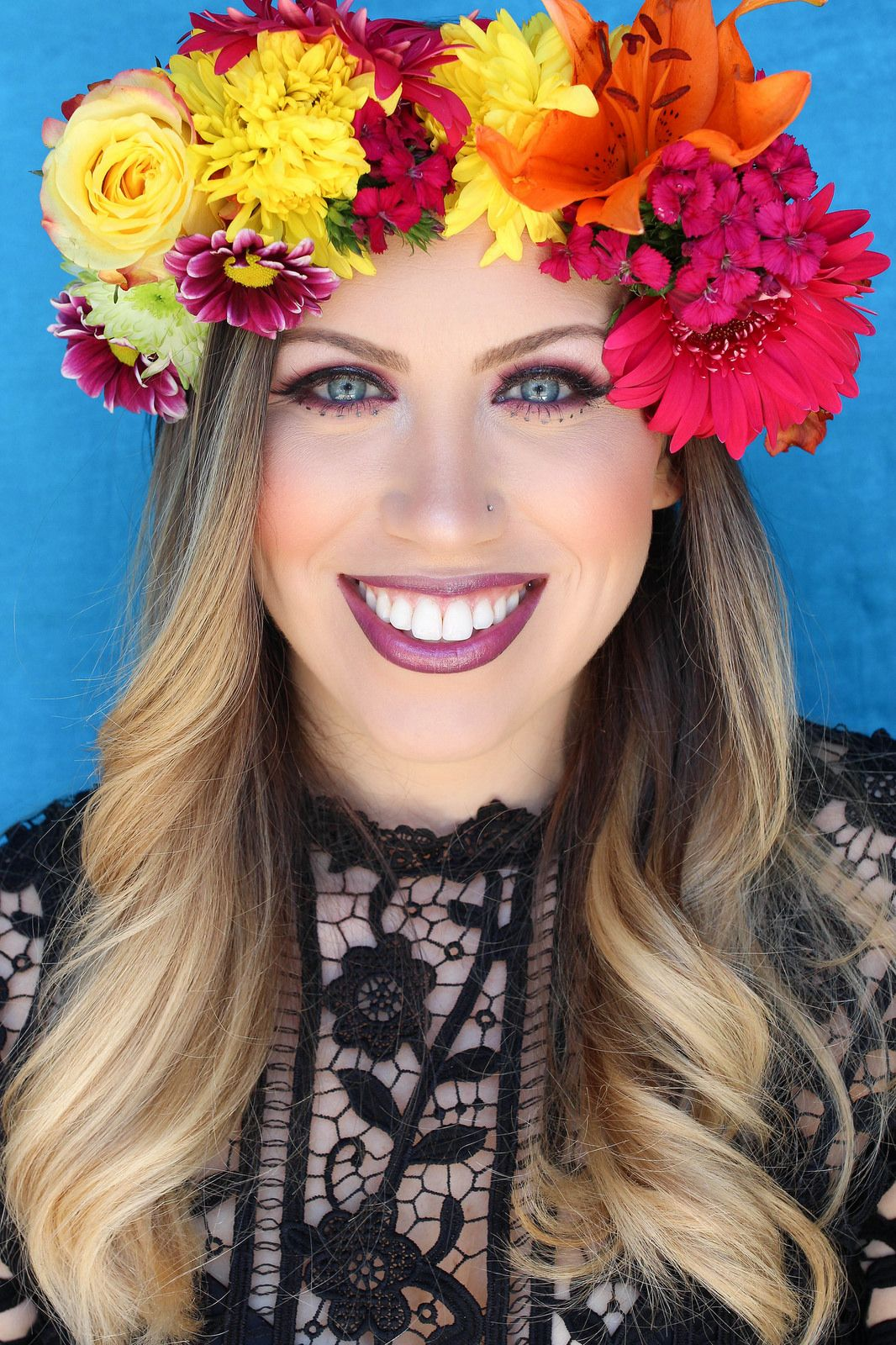 How to make a flower crown real flowers flower crowns and crown how to make a flower crown easy diy real flower crown festive style inspired makeup izmirmasajfo