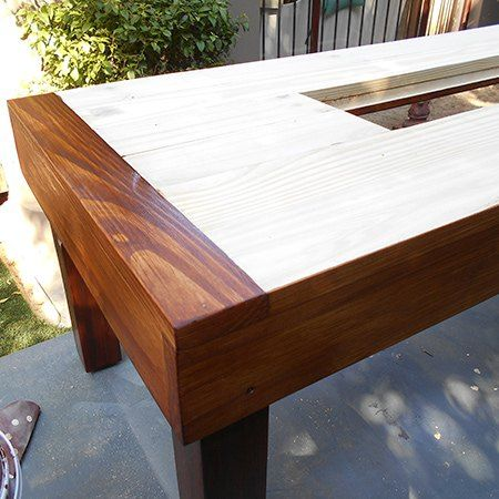 Outdoor Table With Ice Cooler Box