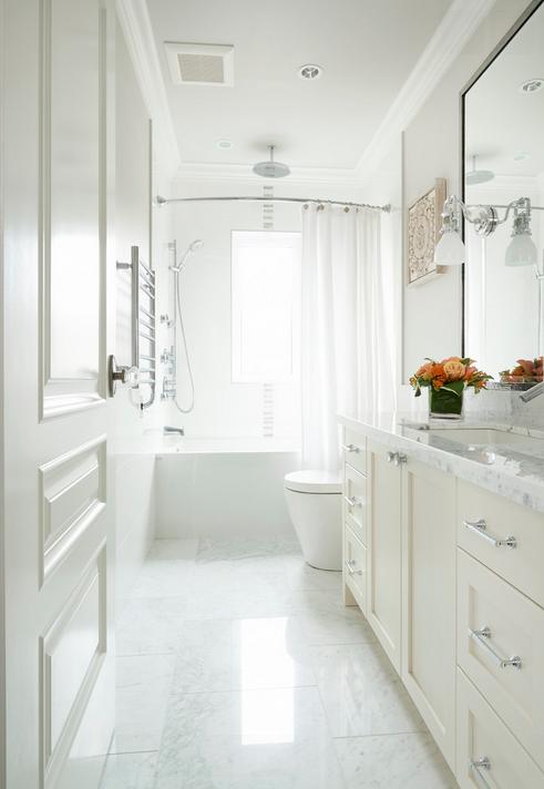 beautiful all white bathroom designed by john henshaw on bathroom renovation ideas white id=38231