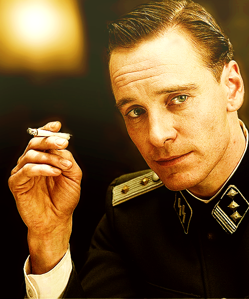 Lt. Archie Hicox (Michael Fassbender) in Inglourious Basterds
