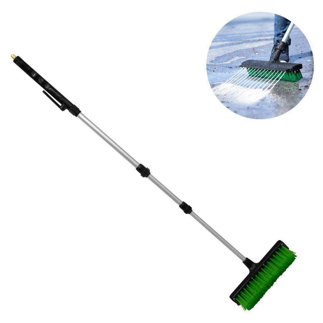 These water brooms can be attached to your garden hose and