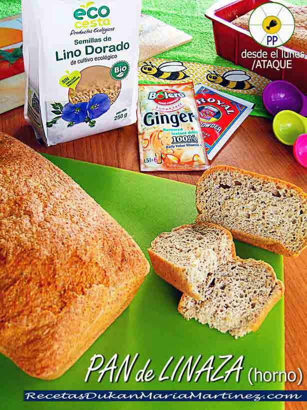 Pan de lino para dieta cetogenica