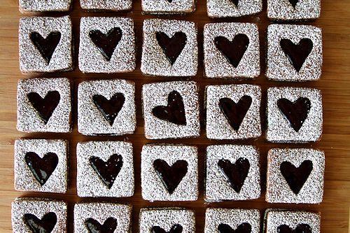 Chocolate Raspberry Linzer Cookies