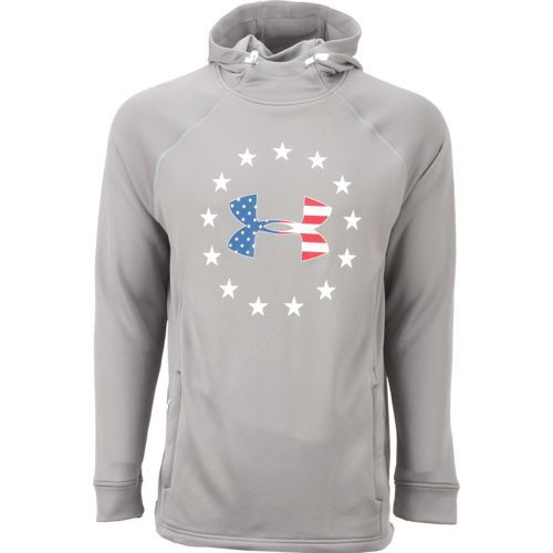 c3e31a69 Under Armour Men's Freedom Tech Terry Fabric Hoodie (Silver/Grey ...
