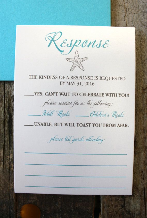 Beach Wedding Invitation Package Turquoise & Silver Glitter ...