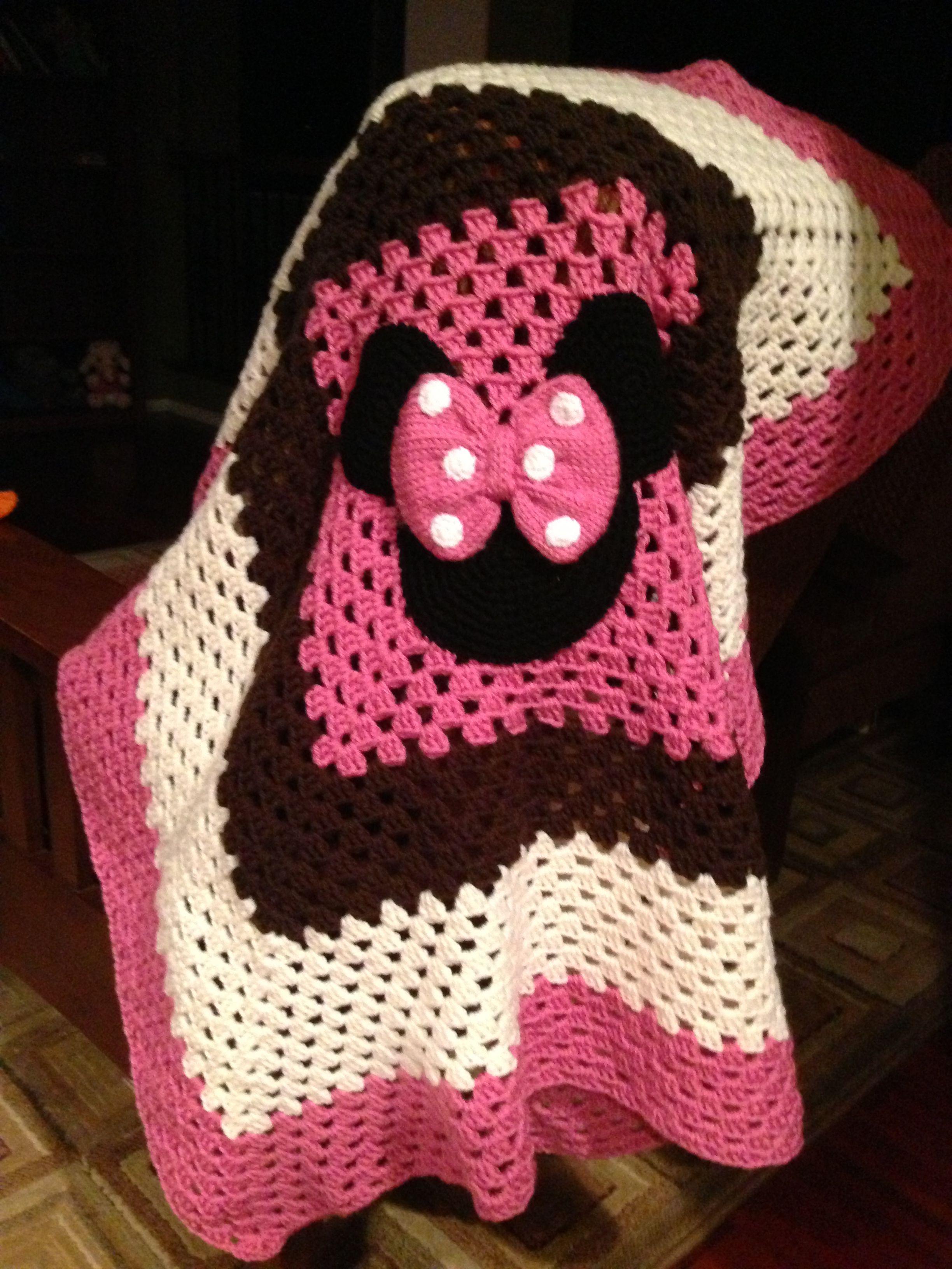 My Crochet Minnie Mouse baby blanket by Ana Perez | Crochet ...