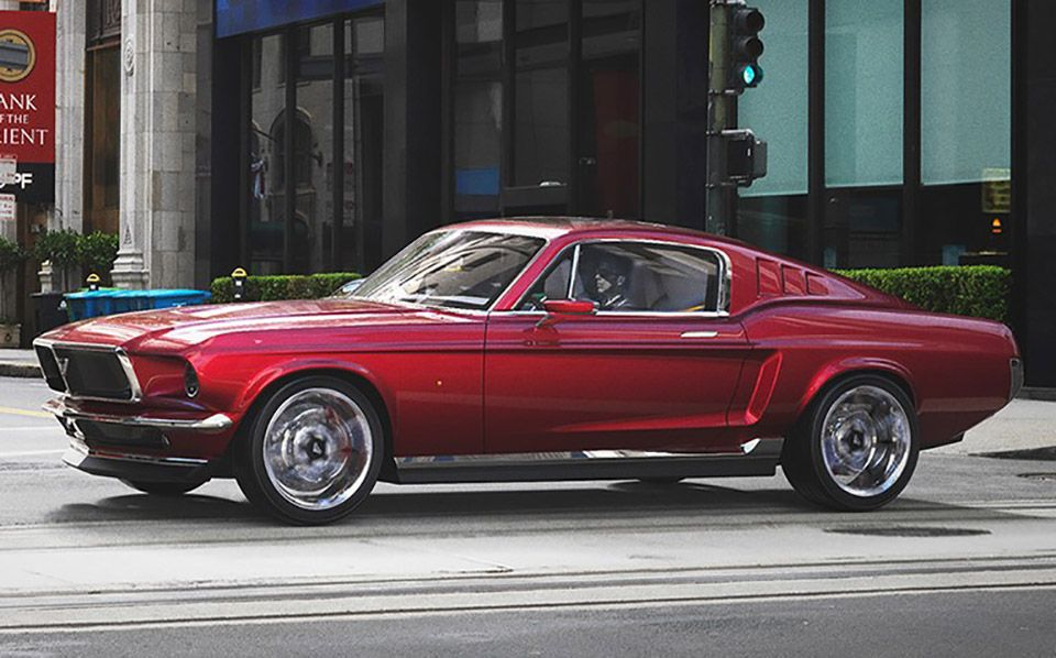 This May Look Like A Mustang But It S All Tesla Tesla Model S Ford Mustang Tesla Model