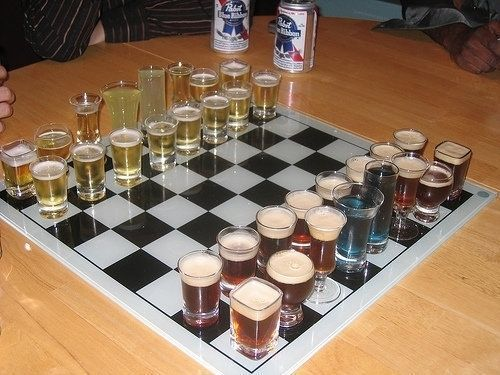 Booze Fun Drinking Games Drinking Games Chess Board