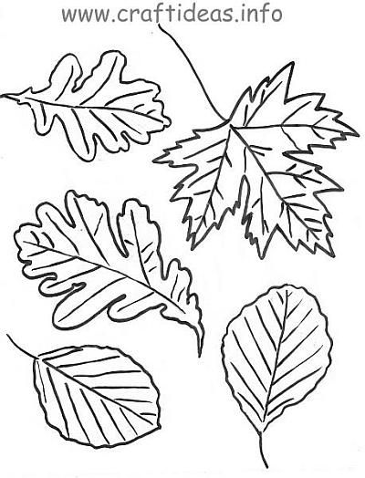 Autumn Leaves Craft Coloring Page Template RePinned By Thriving