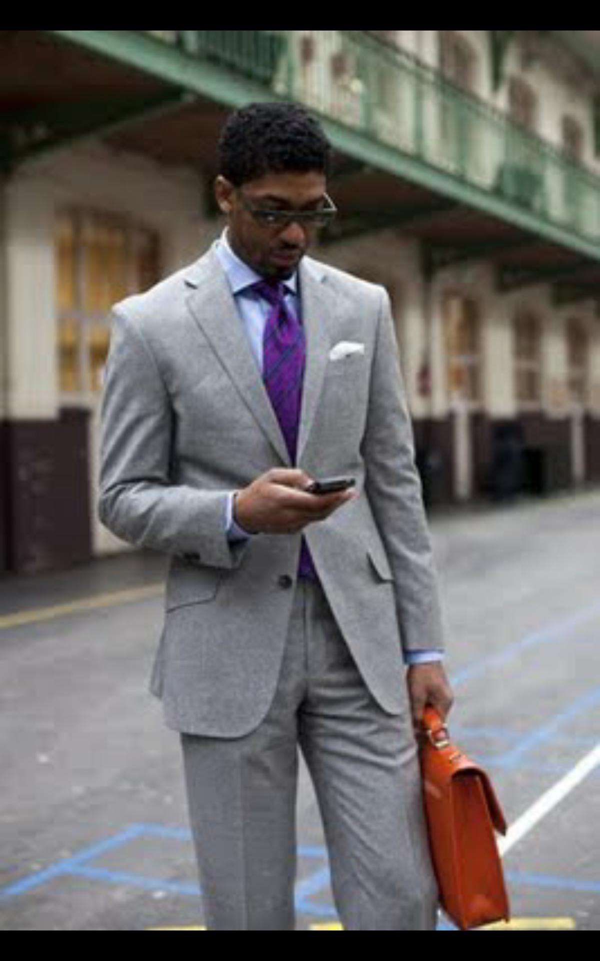 Grey Suit Purple Tie Greg Suit Ideas In 2019 Fashion