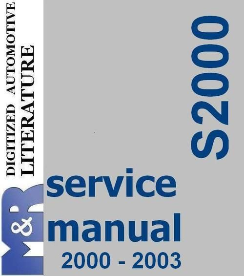 2000 2003 s2000 honda original service manual pdf format suitable rh pinterest co uk 2001 S2000 2004 S2000