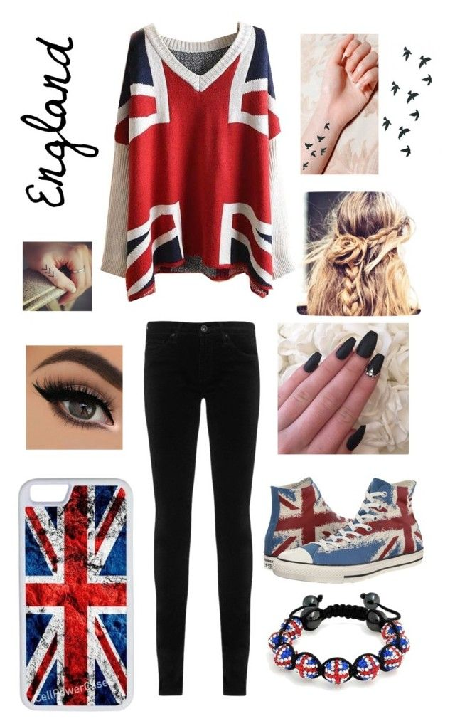"""England"" by riley-motes on Polyvore featuring Bling Jewelry, Converse, CellPowerCases and AG Adriano Goldschmied"