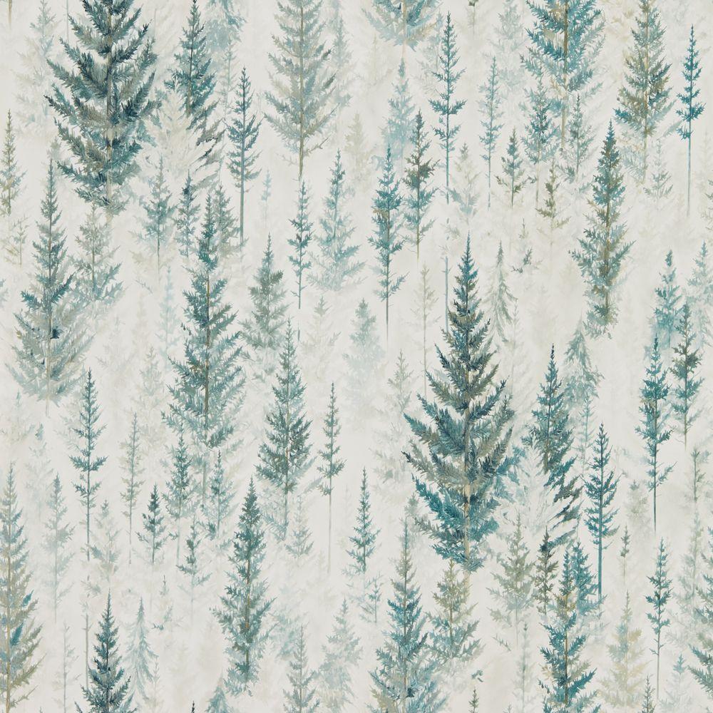 Juniper Pine By Sanderson Forest Wallpaper Wallpaper Direct Forest Wallpaper Wallpaper Direct Tree Wallpaper