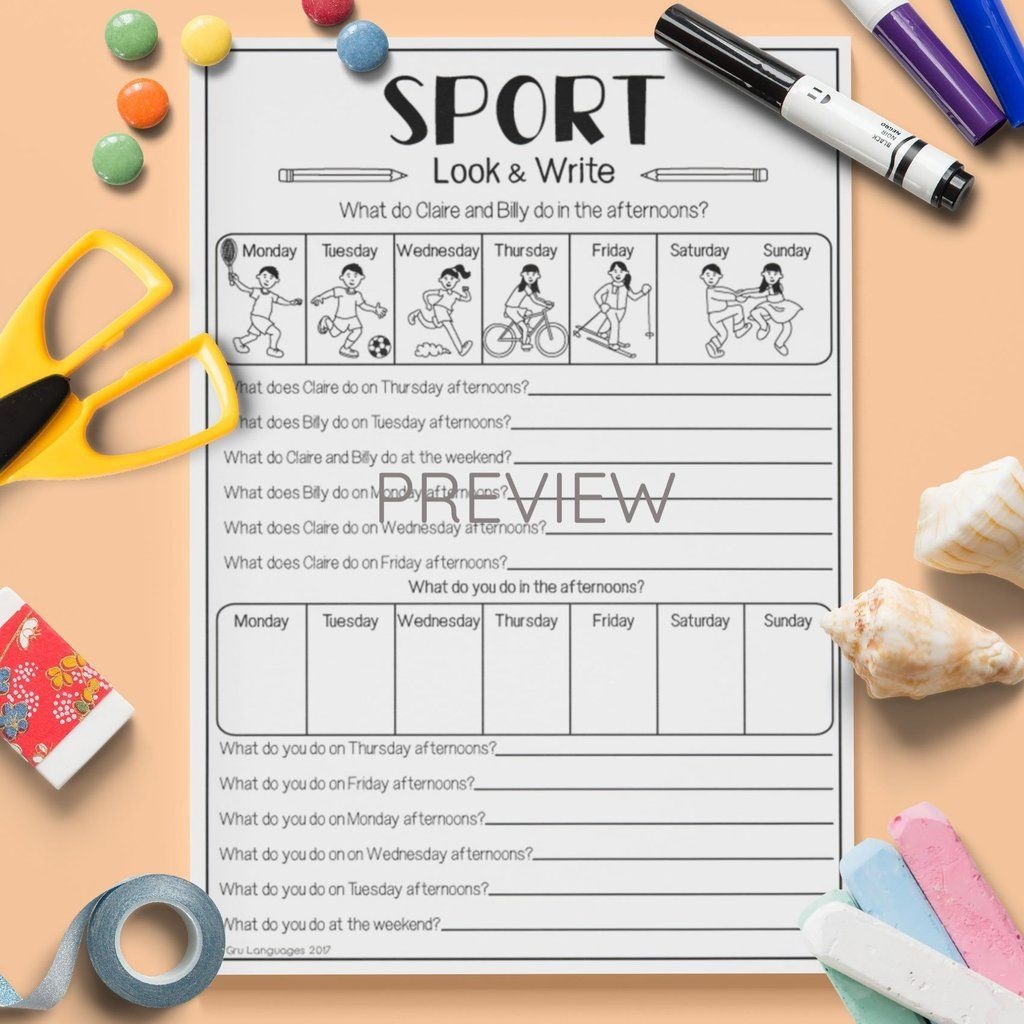 Sport Look Amp Write In With Images