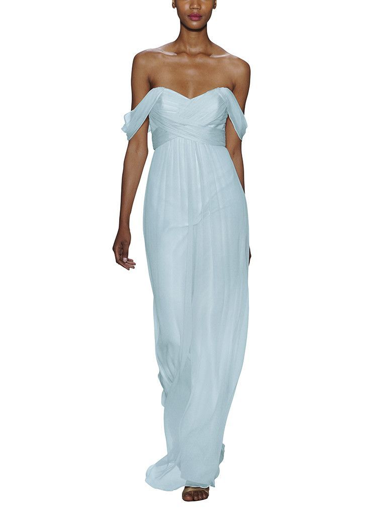 Amsale gc pinterest blue fabric amsale bridesmaid and