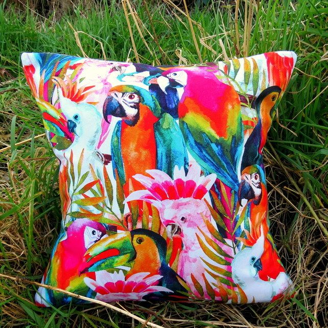 Tropical Decor. A rainforest cushion, complete with