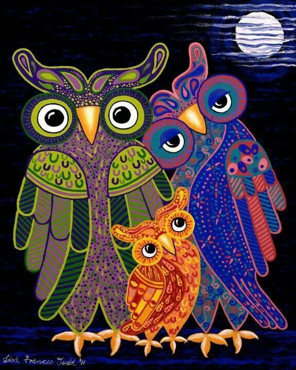 ''Owl I Want Is You' - the cutest owl family ever!' by Lisafrancesjudd