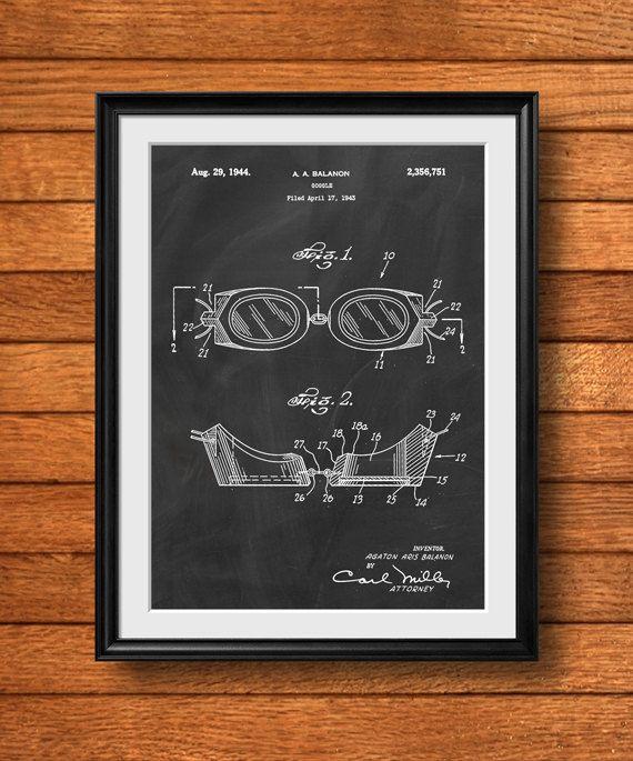 Photo of Retro 1943 Schwimmbrille – Vintage Art Print Poster oder Leinwand, Patent Wandkunst, Home Decor, Schwimmdekor, Swim Meet, Schwimmer Geschenk 817