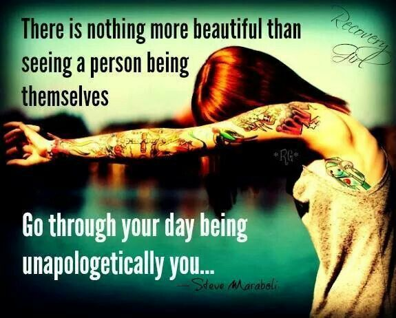 Being yourself