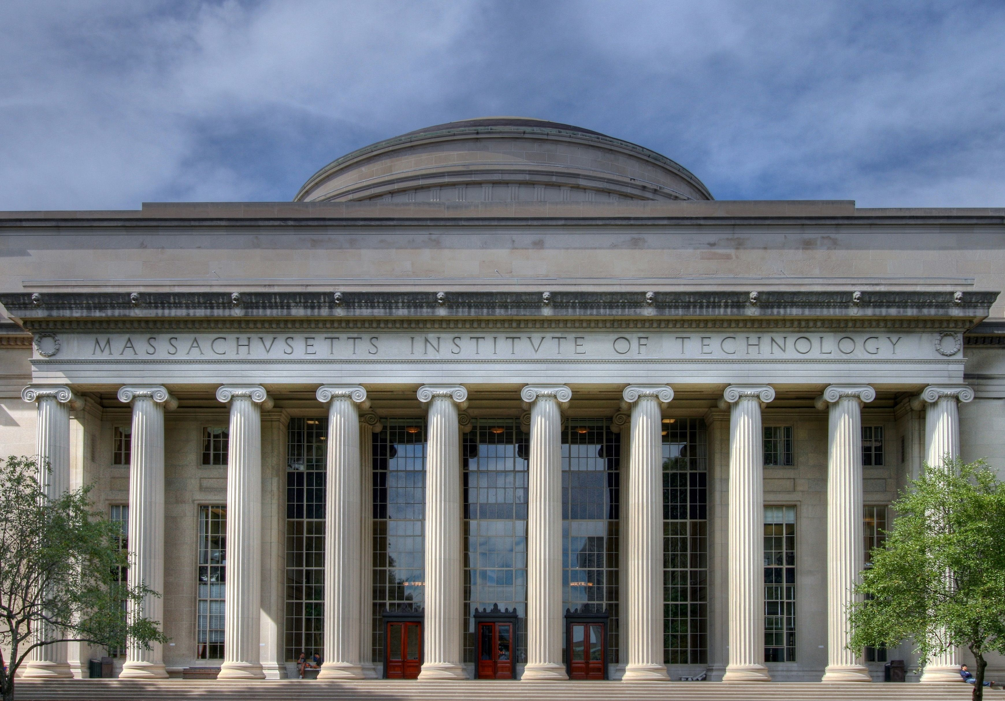 The Facade Of Mit S Building 10 Over Looking Killian Court By Willi University Architecture Massachusetts Institute Of Technology University Campus