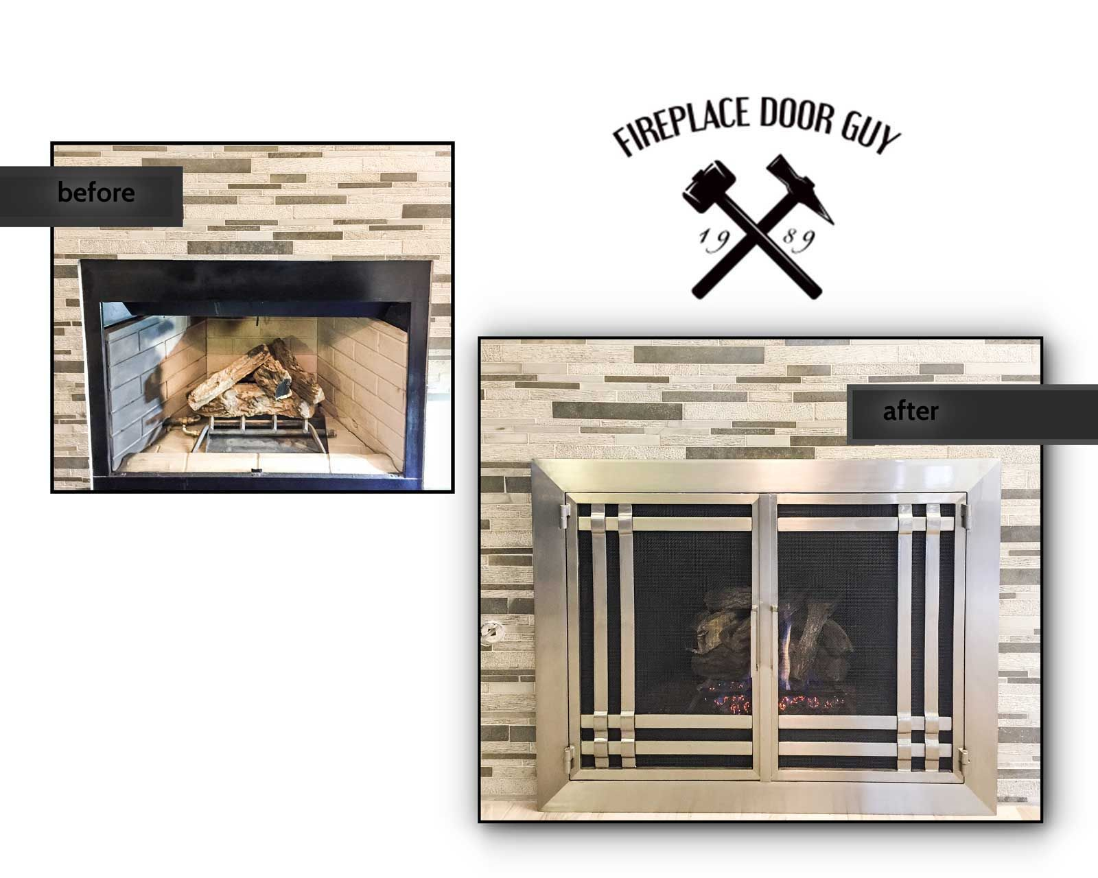 Modern Fireplace Door For This Fireplace Remodel Custom Made By