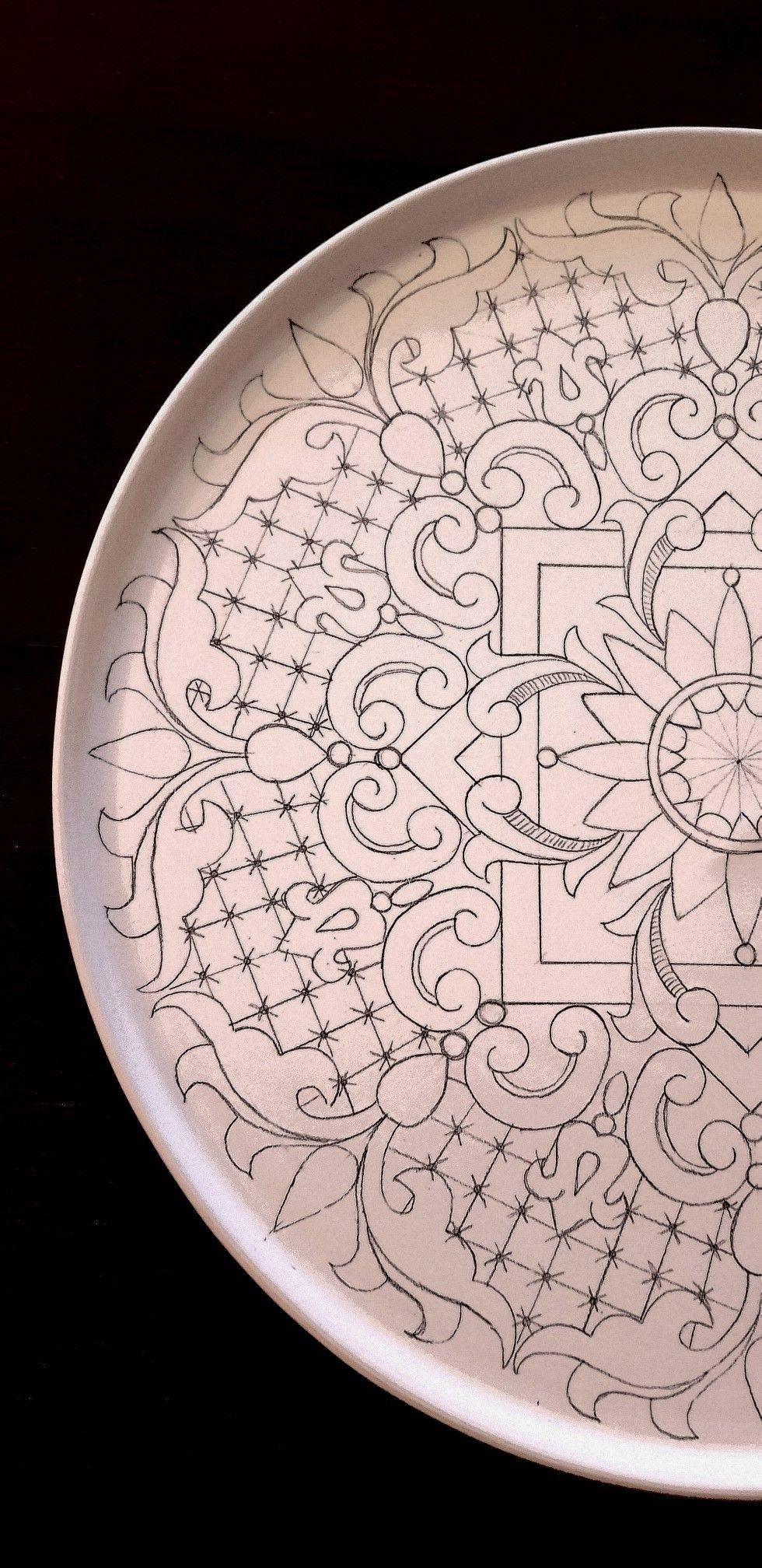 Prato Desenho  Lu Heringer #floconsdeneigeenpapier