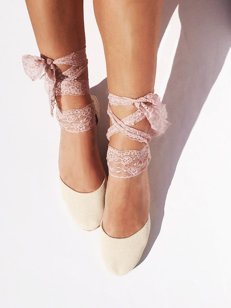 f6518ab3cd94a BOHOIBIZA Ivory Blush Pink Lace Up Espadrille, dance shoes ...