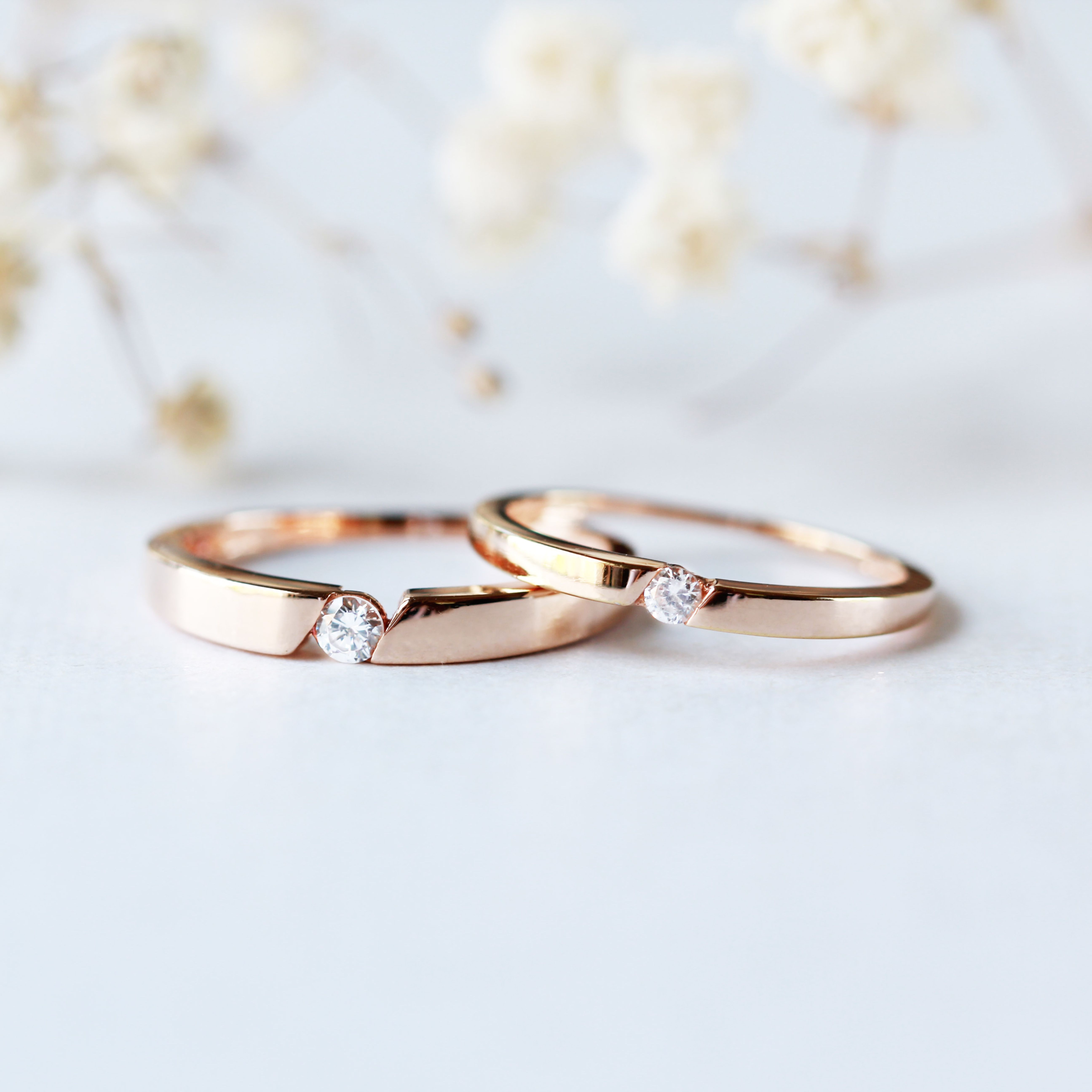 His And Hers Couples Rings Diamond Cz Wedding Rings Set Matching