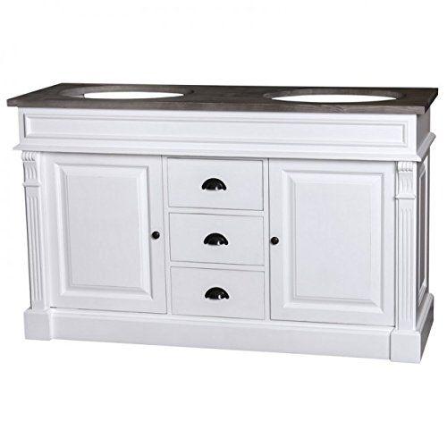 Casa Padrino Landhaus Stil Waschschrank Waschtisch inkl 2 - küchen unterschrank schubladen