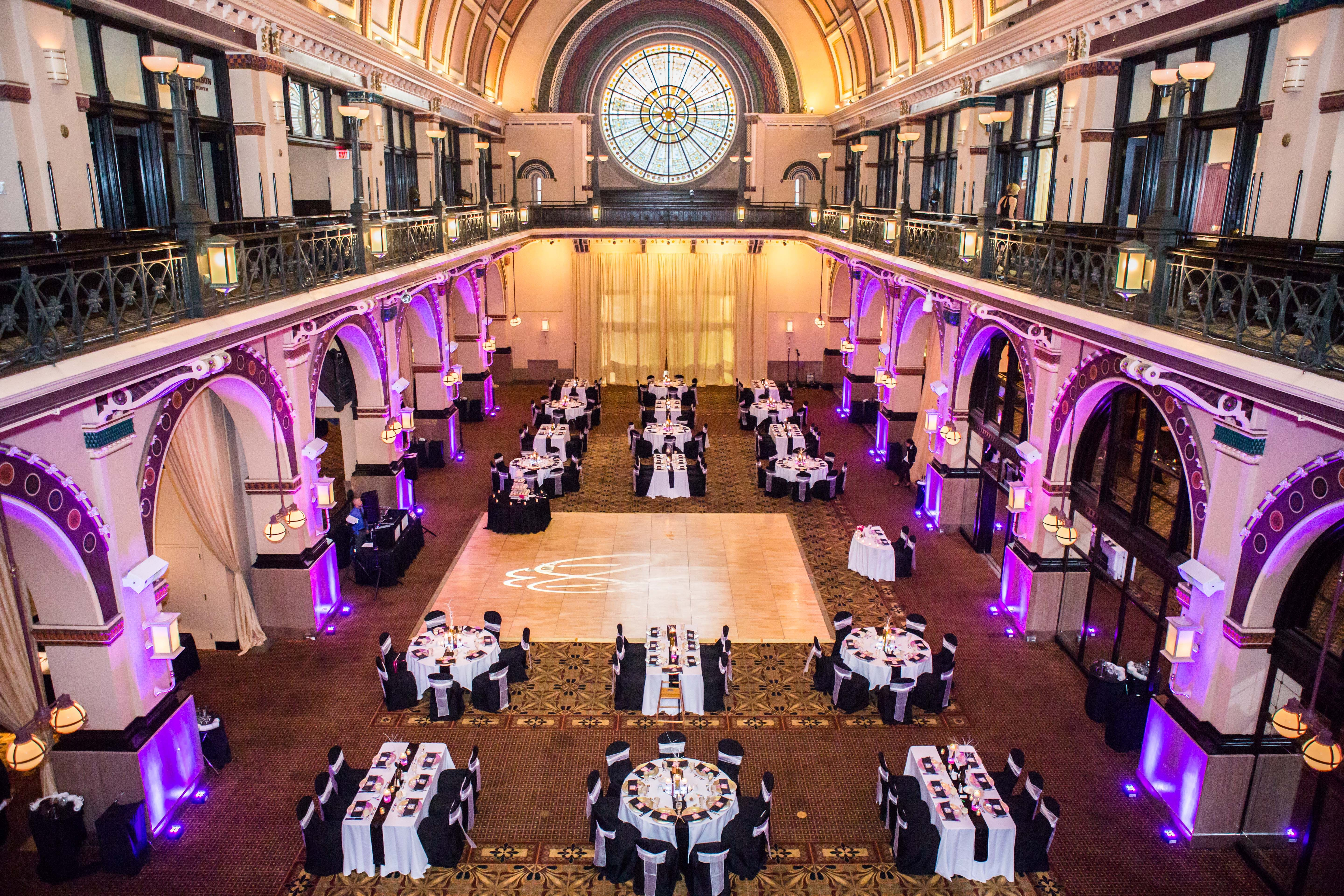Union Station In Downtown Indianapolis Setup For A Wedding Reception