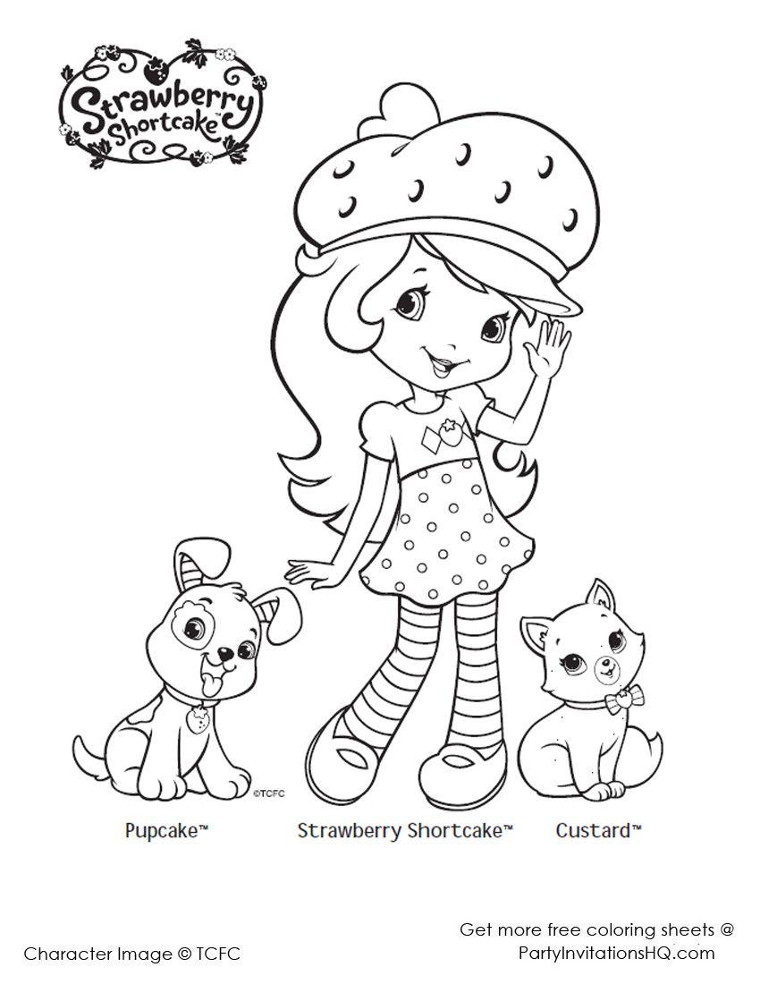 Strawberry shortcake coloring pages 2 | Morangos | Pinterest ...