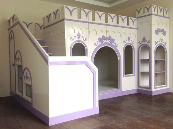 Best Pretty Girls Twin Single Castle Bunk Bed With Stairs 400 x 300