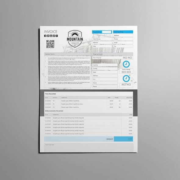 Biz Invoice Template Us Letter Is An Indesign Template  Cmyk