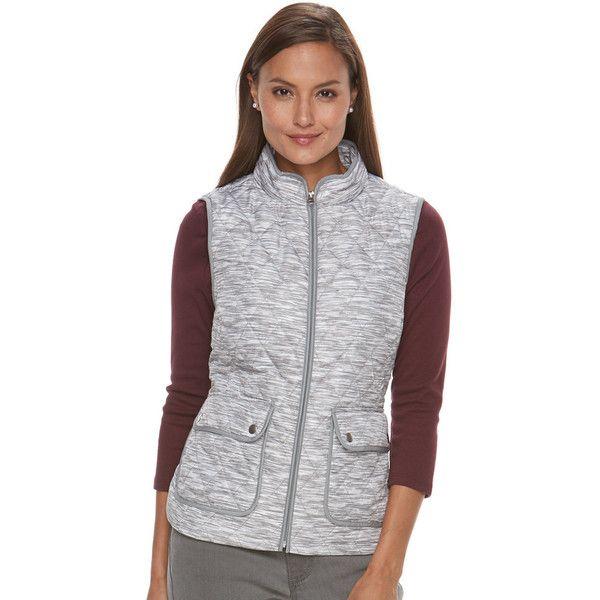 Women's Croft & Barrow® Zip-Up Quilted Vest (25 CAD) ❤ liked on ... : croft and barrow quilted vest - Adamdwight.com