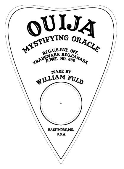 Tactueux image with ouija board printable