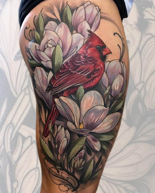 Top 30 Cardinal Tattoos | Beautiful Cardinal Tattoo ...