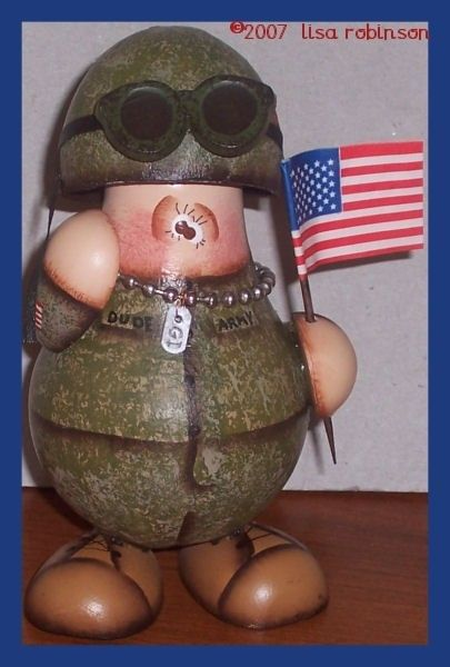 pdf ePattern MiLiTaRy SoLdiEr recycled light bulb by primchick, $7.50