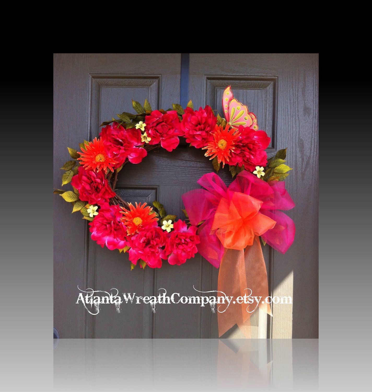 CLEARANCE Spring wreath floral wreath by AtlantaWreathCompany, $30.00