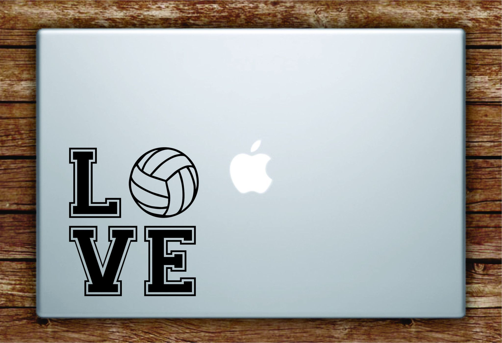 Love Volleyball Laptop Decal Sticker Vinyl Art Quote Macbook Apple Decor Sports Vinyl Art Quotes Wall Decal Sticker Wall Quotes Decals