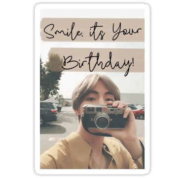 Taehyung Birthday Card Stickers By Baekgie29 Redbubble Bts Birthdays Birthday Card Sayings Birthday Cards