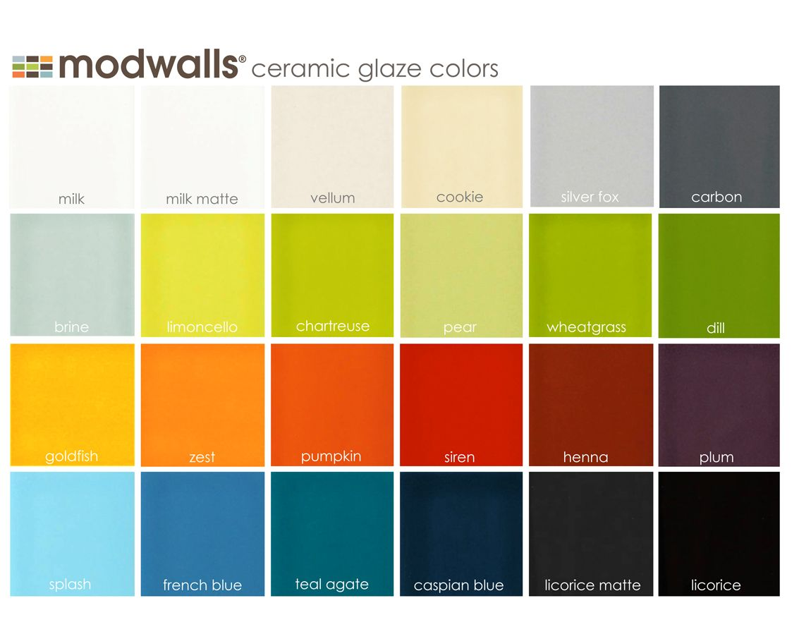 Modwalls ceramic tile glaze color chart for all of modwalls custom modwalls ceramic tile glaze color chart for all of modwalls custom ceramic tile option dailygadgetfo Choice Image