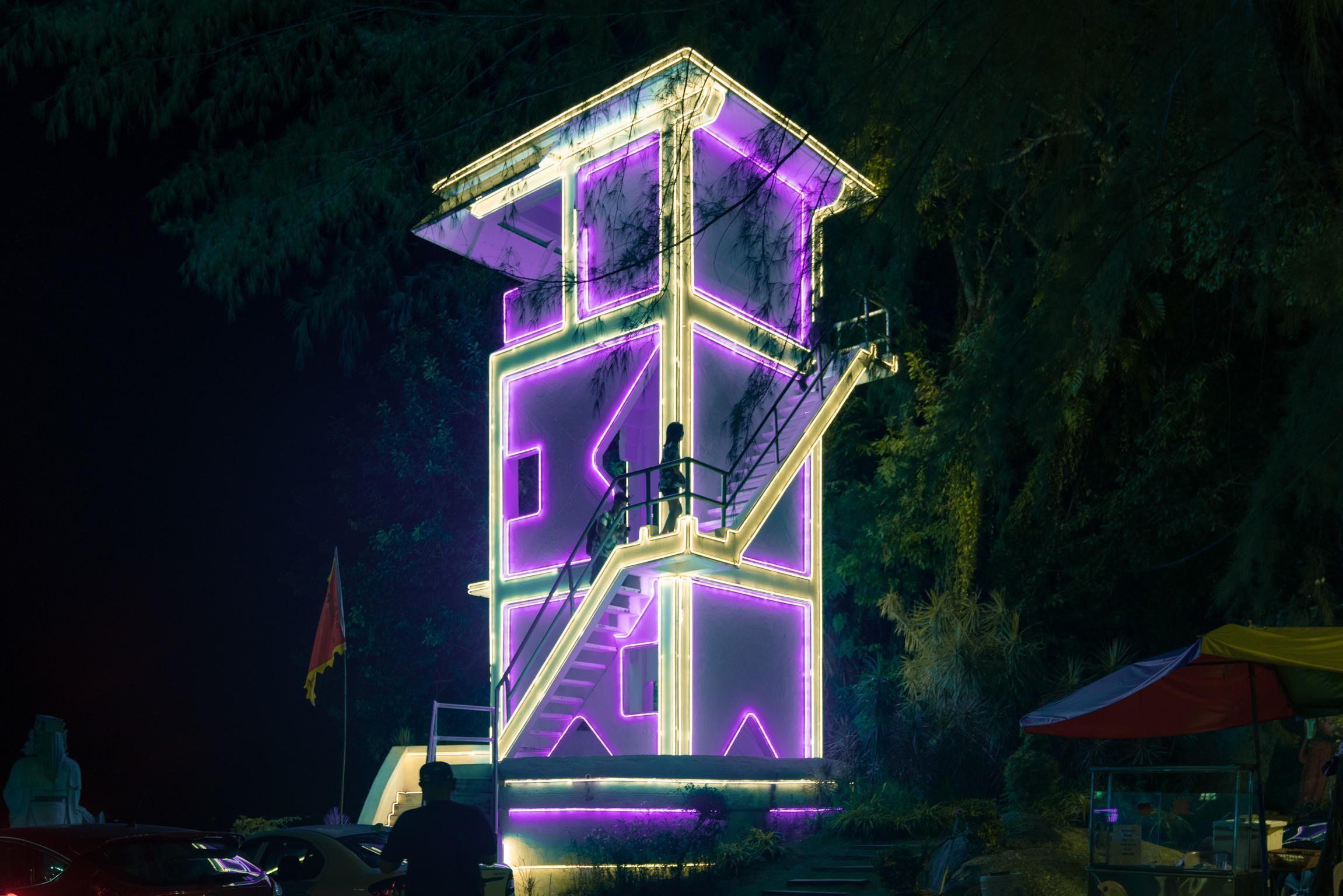 Neon Lighthouse. Neon, What is cyberpunk, Lighthouse