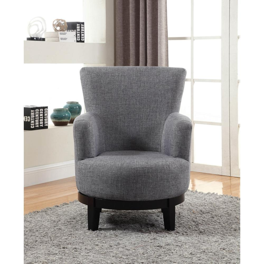 Nathaniel Home Grey Swivel Accent Chair Gray Accent Chairs