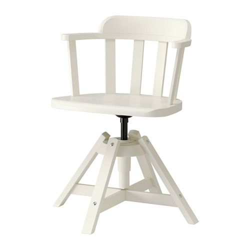 FEODOR Silla giratoria con reposabrazos - blanco, - - IKEA 130 ...
