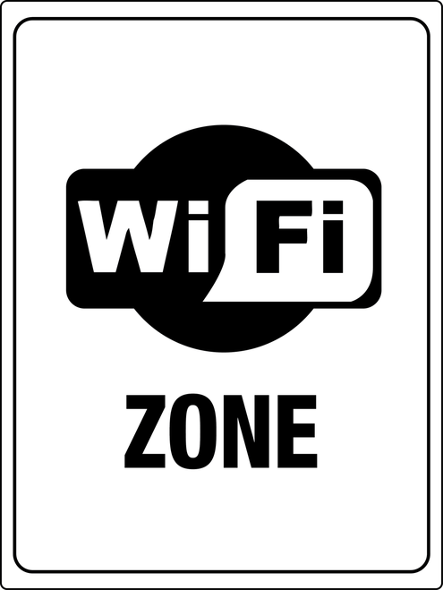 Free Wi Fi Zone Sign If Your Business Offers The Amenity Of Free Wi Fi Services To Customers Visitors And Employees Make Wifi Wall Signs Signs