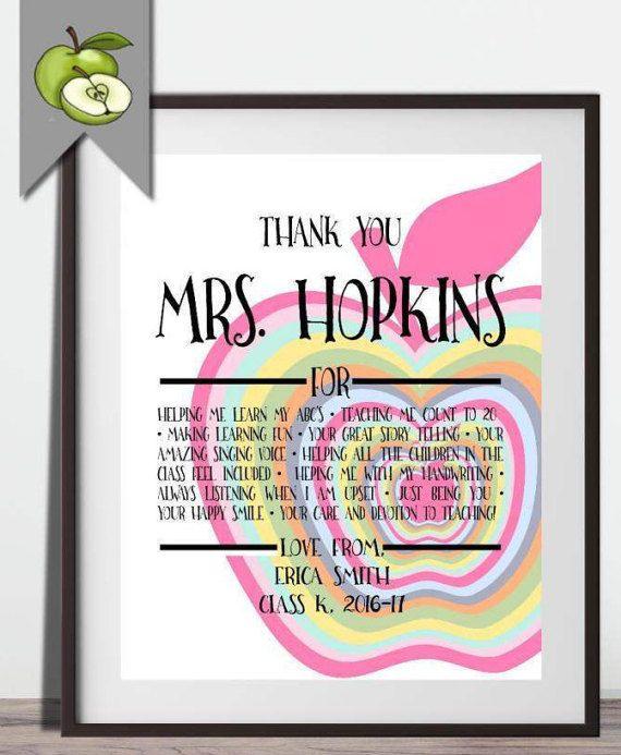 Thank you teacher reasons we love you, editable rainbow ...