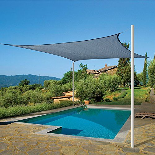 16 X Sun Shade Sail Uv Top Outdoor Canopy Patio Lawn Square Midnight